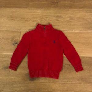 Polo Ralph Lauren Red ZIP Sweater